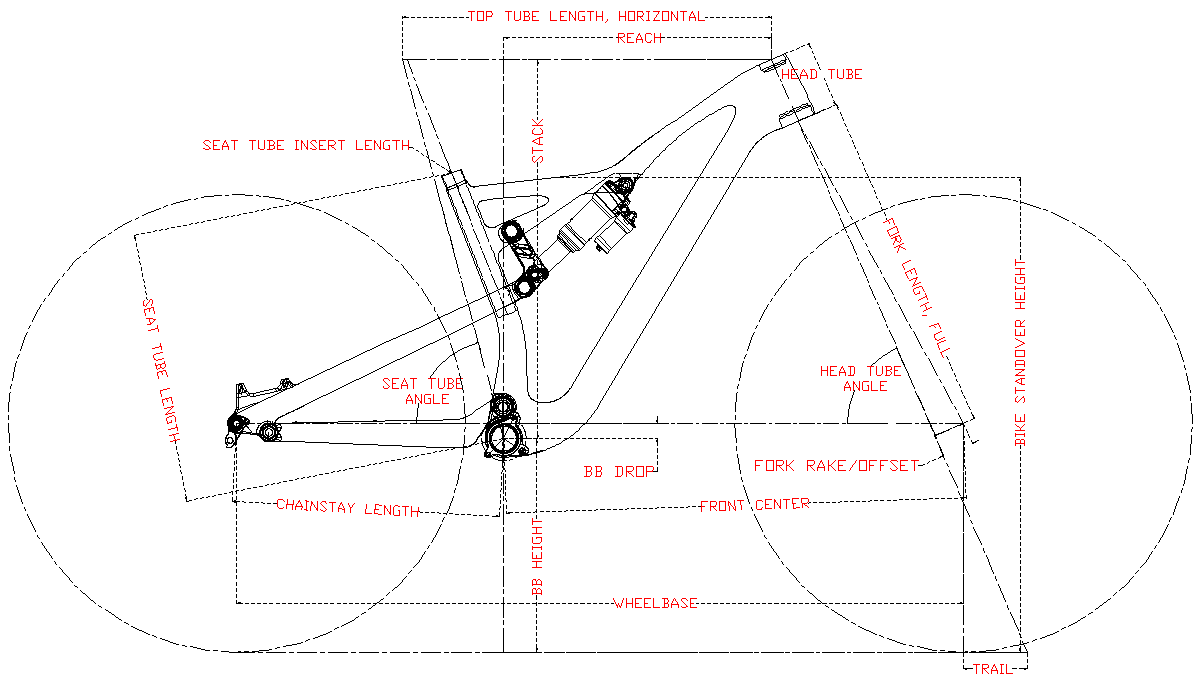 LCFS713 Enduro Frame Geometry